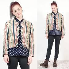 Patterned Blazer Womens Beauteous WOMENS VINTAGE TAPESTRY JACKET BLAZER PATTERNED CROPPED UNUSUAL