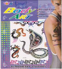 Tetování Barevné Tetovací Obtisky Had