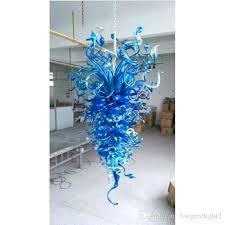 blue glass chandelier hot s handmade glass chandelier home decoration led blown glass blue blue glass chandelier