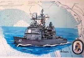 Us Navy Ship Chart Details About Uss Chancellorsville Cg 62 Nautical Chart Art Print Us Navy Ship Veteran Gift