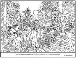 Small Picture Rousseau Virgin Forest at Sunset Coloring page lesson plan ideas