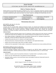 Sample Financial Analyst Resume Resume Cover Letter Template