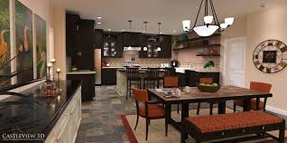Home Floor And Kitchens Kitchen Architectural Renderings From Castleview3dcom