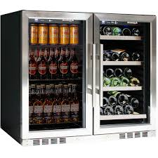 beer and wine glass door bar fridge model ctw28lr ss