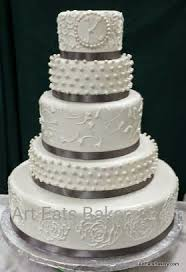 ribbons pearls wedding cake designs art eats bakery taylor s