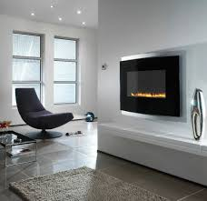 Modern Wall Mounted Fireplace. Accessories: Dining Room Lounge Double Sided  Fireplace - Minimalist