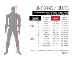 Gi Size Chart The Way Karate