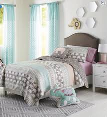 twin better homes and gardens kids elephant stripe bedding quilt set multicolor