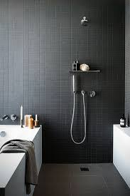 Black Bathrooms In 40 H O M E Pinterest Bathroom Bath And Unique Black Bathroom Tile Ideas