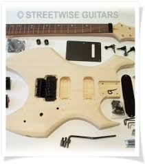 diy electric guitar kit self build warlock style double locking tele style diy guitar kit from streetwise guitars
