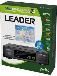 """<b>Perfeo DVB</b>-<b>T2</b>/C приставка """"<b>LEADER</b>"""" для цифр.TV, Wi-Fi, IPTV ..."""