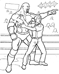 Small Picture Wrestling Free Coloring Pages on Art Coloring Pages
