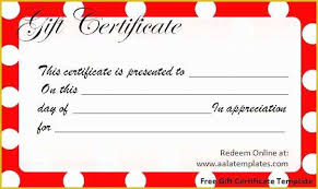 Free Customizable Gift Certificate Template Of Free Gift