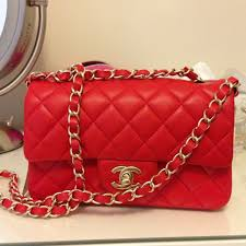 chanel bags red. rare chanel mini red classic flap bag 20cm, lambskin with gold hardware. comes certificate, tag, dusk bag, box. bags