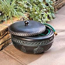 garden hose pot with lid. Feather Resin Hose Pot - Improvements Review Garden With Lid T