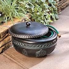garden hose storage pot. feather resin hose pot - improvements review garden storage o