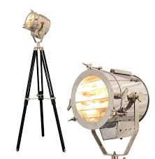 Vintage Retro Theatre Spot Light Tripod Floor Lamp The New Antique Store Hollywood Studio Spotlight