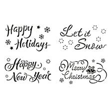 <b>4PCS Merry Christmas</b> Stencil,Reusable Christmas Stencil ...