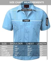 Haband Men S Size Chart Guayabera Mens Haband Cuban Wedding Short Sleeve Button Up Shirt Pink L