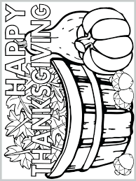 Happy Thanksgiving Printable Coloring Pages Coloring For Babies