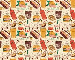 junk food background tumblr. Food Pattern Wallpaper Tumblr Live Fast On Behance With Junk Background