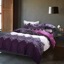 papa mima purple bedding set 4pcs cotton duvet cover set bed quilt queen size bedspread pillowcase bedclothes