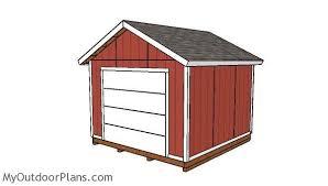 garage door plans12x12 Shed with Garage Door Plans  MyOutdoorPlans  Free
