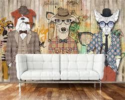 <b>Beibehang 3D Wallpaper</b> Retro Nostalgic <b>Abstract</b> Wooden Dog ...