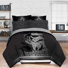 star wars trooper bedding set a 5 piece set with a comfortable flat sheet fitted sheet and pillowcase available in full queen and twin sizes