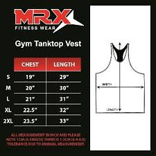 Tank Top Size Chart Men Mrx Mens Tank Tops Sports Bodybuilding Workout Fitness Gym