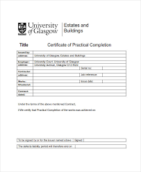 26 Completion Certificate Examples Psd Pdf Word