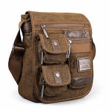 Canvas bag <b>men shoulder bags leisure</b> wear resistant retro cross ...