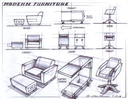 Furniture Sketches Modern Furniture Design Sketching Drawing Pinterest