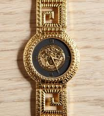 versace watch men s pre owned gianni signature gold medusa gianni versace watch men s pre owned medusa head gold toned wristwatch vintage retro