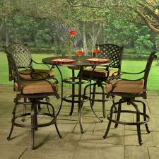 cast aluminum patio chairs. Stonegate Cast Aluminum Cushioned Bar Height Patio Set Chairs T