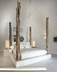 platform bed with wooden posts   Imaginary Home   Bedroom, Bed, Home