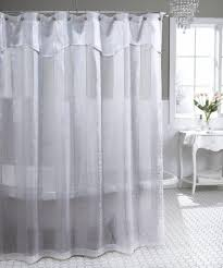 white shower curtains with valance
