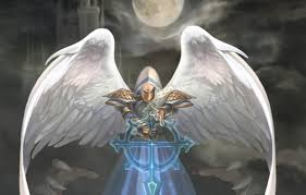 Wallpaper the moon, wings, angel, art, hood, natsuki-3, heroes of might and  magic images for desktop, section игры - download
