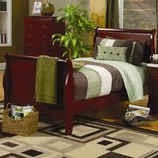 Light Cherry Bedroom Furniture Alisdair Twin Sleigh Bed Unique Flushmount Light White Teak Wood