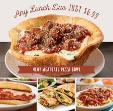 through 2 9 you can get olive garden s lunch duos plus unlimited soup or salad and breadsticks for just 6 99 just tell your server code 04 when
