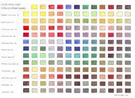 Mixing Color Chart Of Schmincke Horadam Aquarel Paper Type