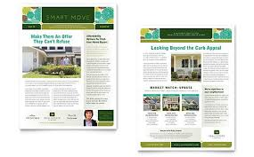 Newsletter Format Examples Real Estate Newsletter Template By Stocklayouts In 2019