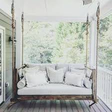 bed swing for porch four oak bed swings swing bed outdoor diy