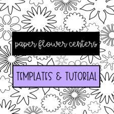 Paper Flower Cricut Template Paper Flower Center Templates Svg Clipart For Silhouette Or Cricut