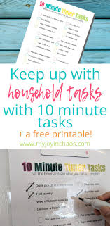 How To Make A One Minute Timer Keep Up With 10 Minute Timer Tasks Free Printable Best Of My Joy