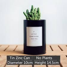 2018 garden pots planters flower pots planters tin zinc can diy planter flower pot pen holder organizer storage rustic cacti tall black from deniaiwo1314
