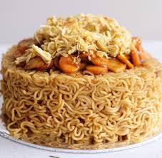 Jual Cake Mie 14 Cm Happy Birthday Kue Ulang Tahun Indomie Cake