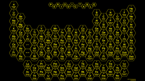 2015 - Honeycomb Periodic Table - Green - Science Notes and Projects