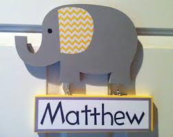 elephant door sign nursery decor wooden elephant name sign gender neutral personalized gift on wooden elephant wall art nursery with elephant door sign personalized sign pink and gray elephant