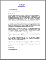 Sample Cover Letter For Language Teaching Position Cover Letter